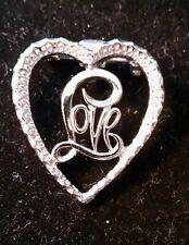 Vintage Gerry's Silver tone Heart Love pin/brooch.