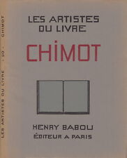 Les artistes du livre : Chimot 1931 Babou Curiosa 21 planches