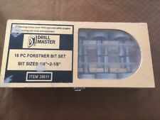 "16 Pc. Forstner But Set But Size 1/4"" - 2-1/8"" Drill Master 39811 Drill Bits"