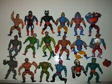 18 Vintage Mattel 1980's Masters of the Universe He-Man Action Figures