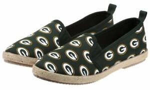 Forever Collectibles NFL Green Bay Packers Women's Espadrille Canvas Shoe