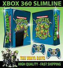 XBOX 360 SLIM CLASSIC TEENAGE MUTANT RETRO TURTLE 90'S STYLE OLD SKOOL STICKERS