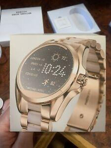 Michael Kors Bradshaw Rose Gold-Tone and Acetate Smart Watch