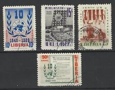LIBERIA 1955 AIR MAIL UN 10th ANNIV SET USED