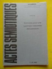 Actes Sémiotiques Documents 37 1982 Herman Parret éléments pour une typologie