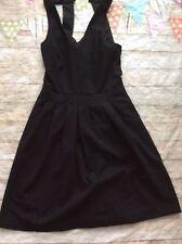 Banana Republic Little Black Dress Cocktail Open Back Size 2 Euc