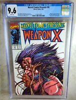 Marvel Comics Presents #78 Weapon X 1991 CGC 9.6 NM+ White Pages - Comic I0072