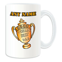 Personalised Gift World's Best Dad Trophy Mug Money Box Father Daddy Cup Day Tea