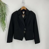 Chico's Blazer Womens Size 00 XS Black Two Button Stretch Long Sleeve Jacket NWT
