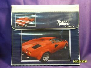 Vintage 80s MEAD TRAPPER KEEPER THE ULTIMATE LAMBORGHINI NOTEBOOK 3-RING BINDER