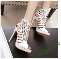 Sexy Ladies Hollow Out Stilettos Party High Heels Casual Casual Shoes Size UK5