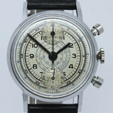 VINTAGE Clinton 34mm Chronograph Mens Watch Venus 170 = Great Snail Tachy Dial