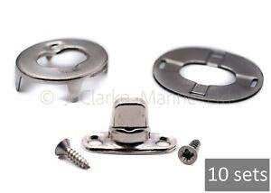 10 x Turnbutton 6mm kit & screws DOT fastener boat canopy cover turnbuckle stud