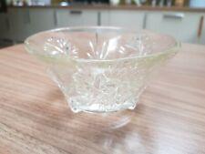 Unusual Vintage Pressed Glass 3 Footed Bowl