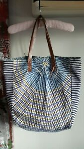 French Designer Inouitoosh tote shoulder bag leather handles ec