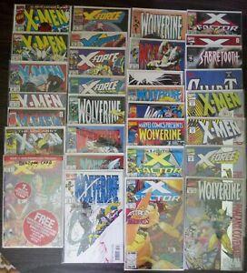 90's X-men Lot of 31! See Description! X-Factor, Wolverine, X-Force, Phalanx...
