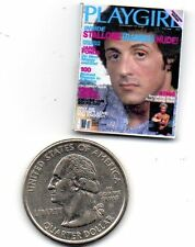 1 Mini Vintage 'Playgirl'  MAGAZINE Sly Stallone - Dollhouse 1:12 scale OPENING