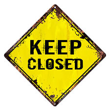 DS-0031 KEEP CLOSED Diamond Sign Rustic Chic Sign Shop Home Decor Gift
