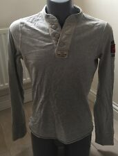 Authentic Hollister Men's Small Grey Long Sleeve Top ABERCROMBIE EXC