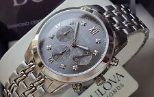 Orologio Cronografo Uomo BULOVA Diamond + 8 Brillanti ORIGINALE NUOVO Mens Watch
