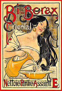 Art French Bi Borax artDeco Deco Colourful Poster Print
