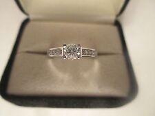 1.02 Carat 14K Gold Diamond Engagement Ring Center=.52 Carat  SI1-F Value=$6,500