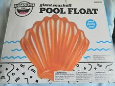 """2018 NEW Bigmouth Giant Seashell  Float Orange5' 2 """" Perfect for lil mermaids!"""