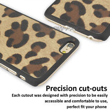 Stylish Girly Lovely sexy leopard Skin Case Pouch Glass Films for iPhone 6 6S