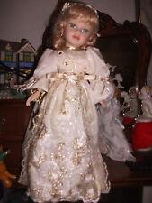 New Vintage Porcelain Beautiful Braided Hairstunning Green Eyes Angel Star Doll