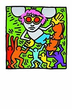 Keith Haring art postcard, Andy Mouse 1985 (01) - size 15x10 cm.
