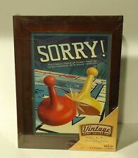 SORRY! board game WOODEN Vintage Game Collection (2010, Canadian) NEW & SEALED