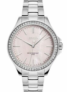 **NEW** LADIES HUGO BOSS DIAMOND SILVER PINK WATCH - 1502451 - RRP £299