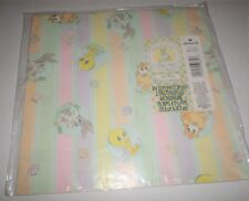 Baby Looney Tunes Pastel Wrapping Paper Sealed 2 Sheets Hallmark Bugs Taz Daffy