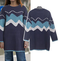 Womens Ladies Casual Knit Sweater Dress Long Sleeve AU Size 20 22 24 26 28 05021