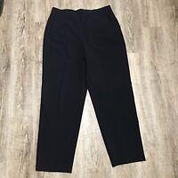 Bay Studio Women's Dress/Career Pants ~ Sz 14 ~ Black ~ High Rise ~Stretch Waist
