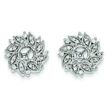 14K White Gold Diamond Swirl Flower Jackets Earrings (0.59 CTW) MSRP $3012