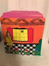 1968 Vintage Mattel Barbie Vinyl Folding case Family House With Furniture!