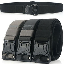 1.5inch Mens Elastic Webbing Belt Quick Release Magnetic Buckle Tactical Belts