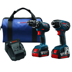 Bosch CLPK237A-181 18-Volt 2-Tool Lithium-Ion Variable-Speed Cordless Combo Kit