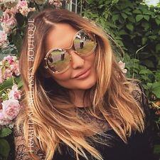 ROSE Gold Designer occhiali da sole Oversize Tondi marbs Ibiza Spiaggia Festival .55