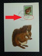 SCHWEIZ MK 1966 846 TIERE EICHHÖRNCHEN SQUIRREL CARTE MAXIMUM CARD MC CM c3537