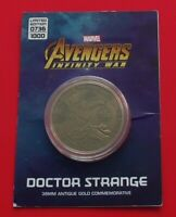 Marvel Avengers Infinity War Limited Edition Coin / Medal Dr Strange Character