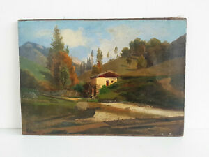 Rudolf Pawn (1823-1889) Ideallandschaft With Mill Sign Dat. 1878 Oil / Lw