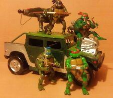 Teenage Mutant Ninja Turtles-Tutte le 4 FIGURE TARTARUGA CON TARTARUGA Tracker Veicolo