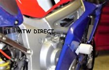 R&G Racing PAIR WHITE ROUND CRASH PROTECTORS FIT Yamaha YZF-R6 (2001)