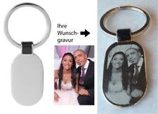 Schlüsselanhänger oval Foto Gravur Fotogravur Geschenk ❤ Valentinstag Muttertag