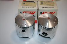 PAIR OF Yamaha  snowmobile nos pistons  1974 GP433 vintage 68.25mm 1st over