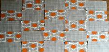Ditsy Cyclamen & Cross Hatch Scribble Orla Kiely Fabric Bundle 36 small pieces