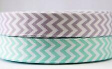2M X 22mm Grosgrain Ribbon Craft DIY Cake Decorations Hair Bows Chevron Zigzag