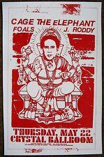 Cage The Elephant / Foals 2014 Poster Gig Portland Oregon Concert